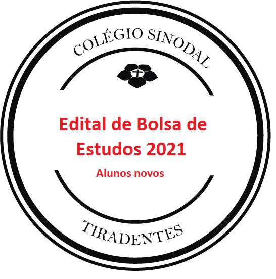 EDITAL DE BOLSA alunos novos